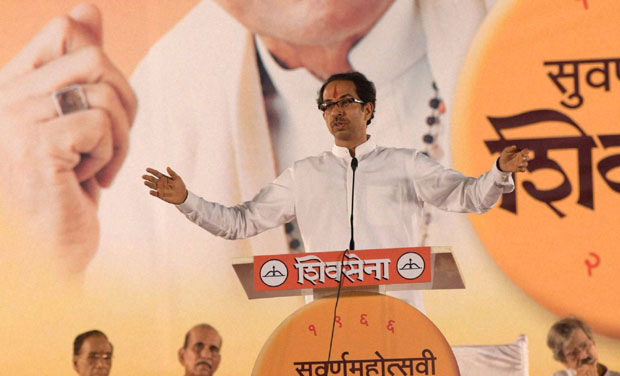Uddhav Thackeray takes Gaumutra jibe at BJP on Dussehra