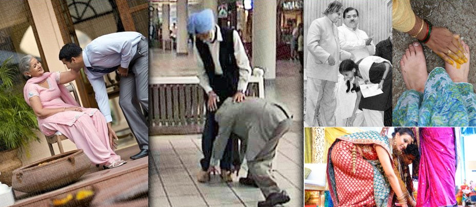 touching feet in indian culture