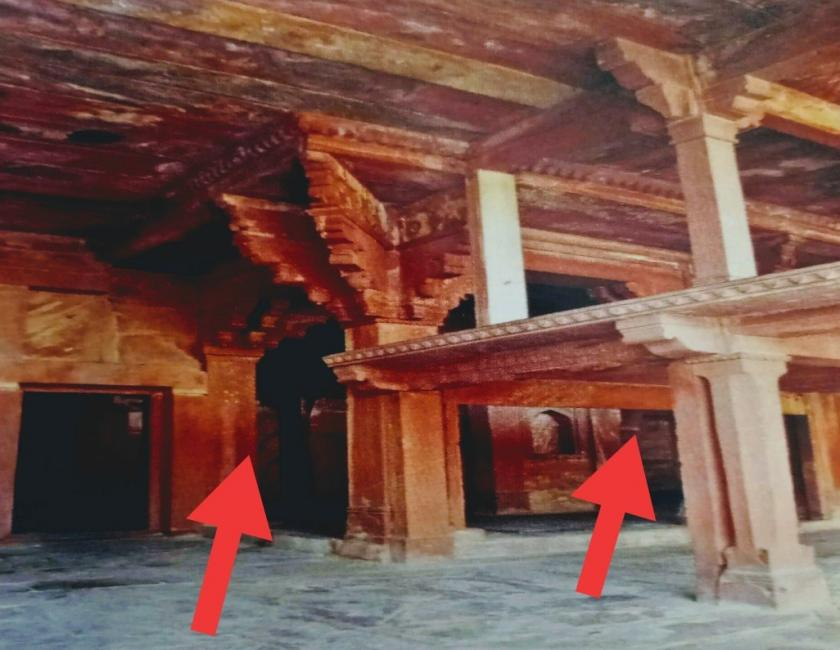 Clearly the mughal construction in Fatehpur Sikri complex were a mere additions to pre-existing Rajput Architecture.