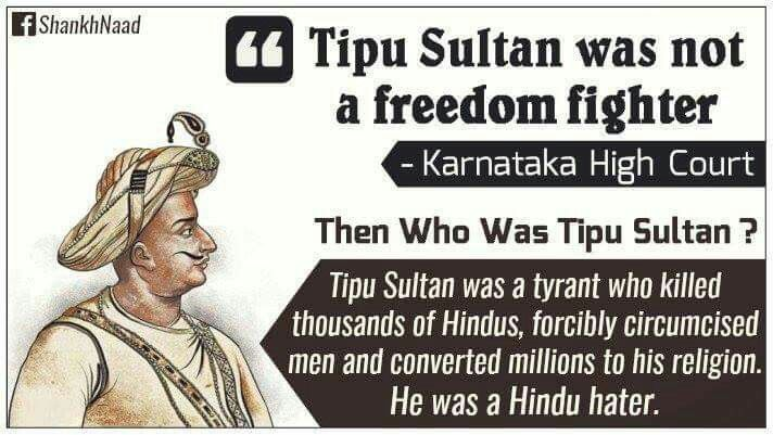 Tipu Sultan – A Glorified Tyrant and a Butcher of Hindus