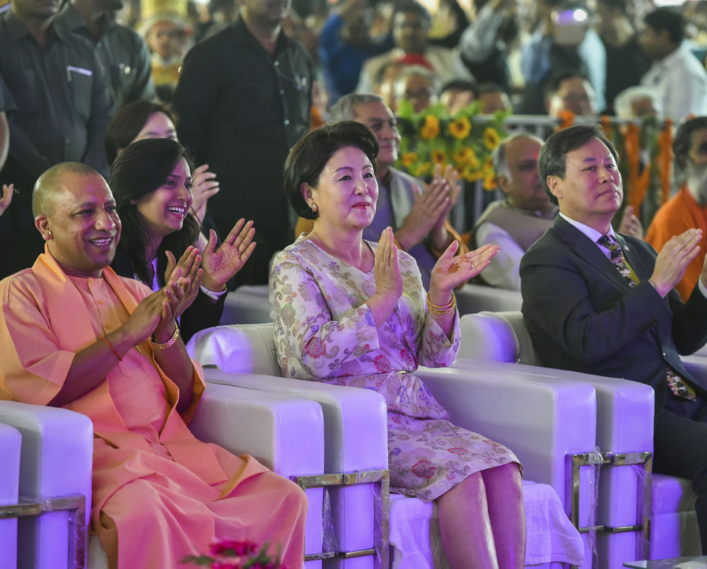 S Korean First Lady visits Queen Heo Memorial in Ayodhya, welcomes 'Ram Durbar'
