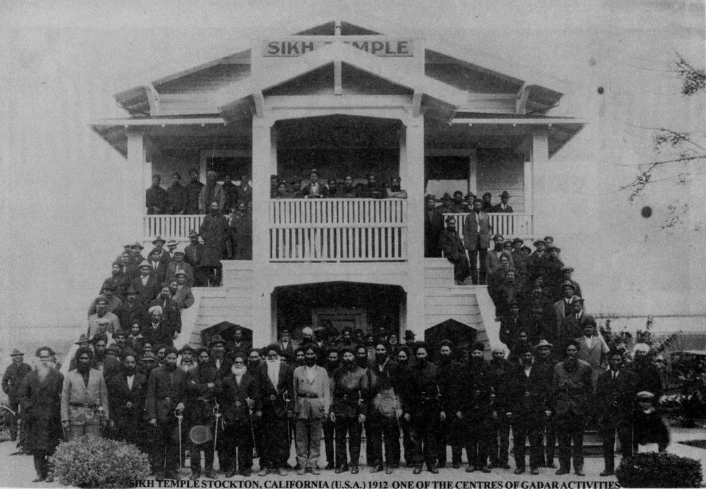 1916 - Ghadar Party members assemble at Stockton gurdwara Image: DAWN/Wikimedia
