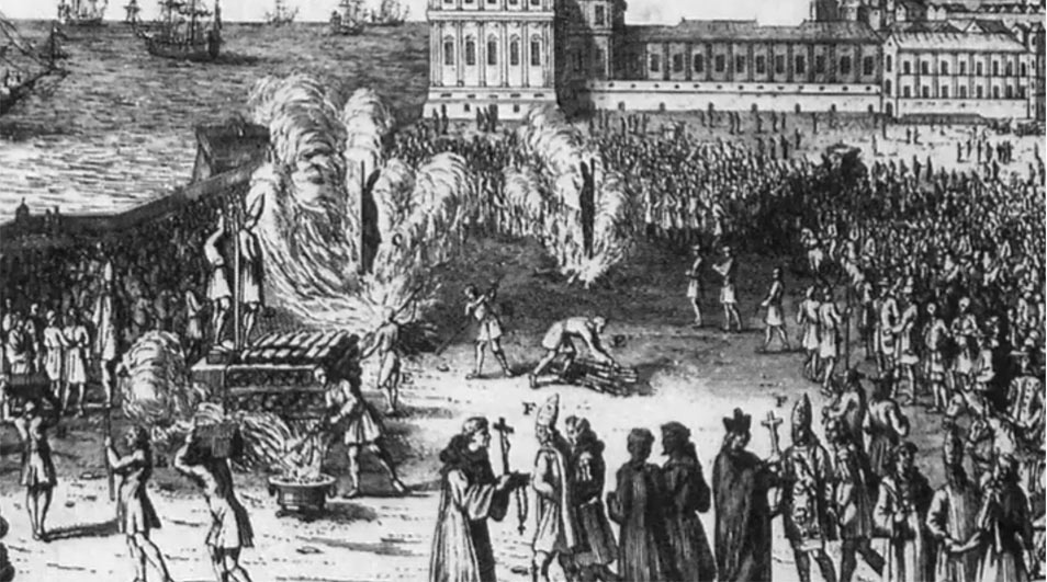 crucified in Goa by the Portuguese Inquisition,