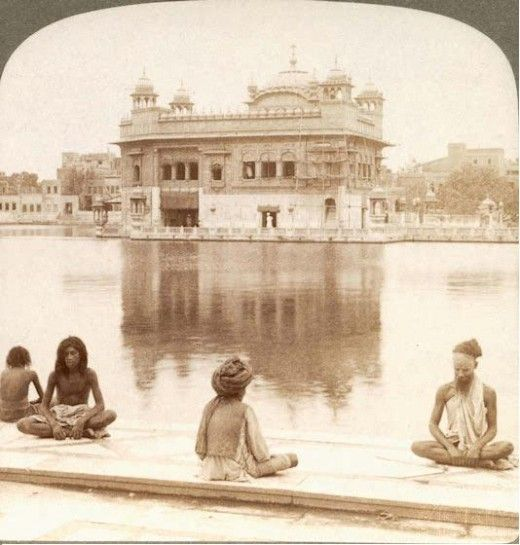 Sadhus at golden temple