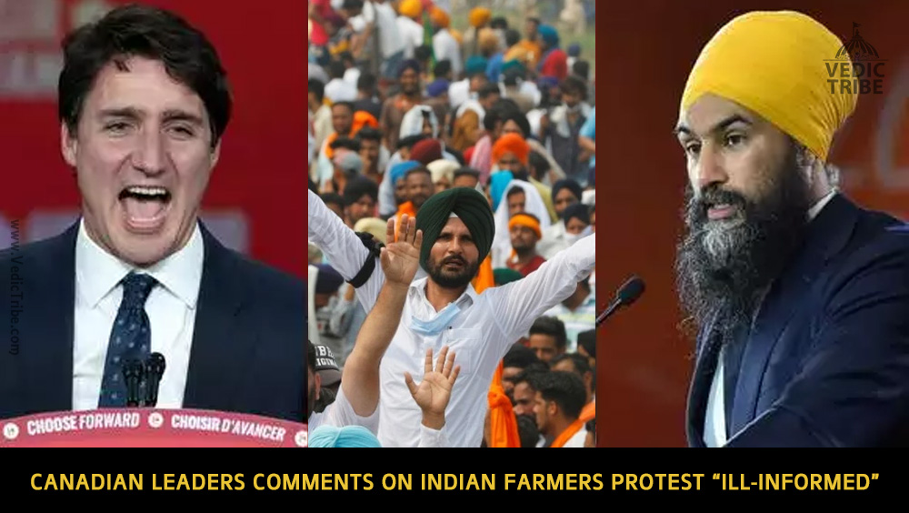 """Canadian leaders comments on Indian farmers protest """"ill-informed"""" MEA Spokesperson"""