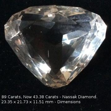 Nassak Diamond, Eye of Murti at Trimbakeshwar Shiva Temple, now in Lebanon Museum