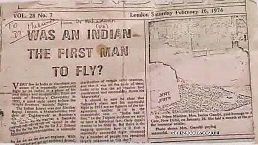 Vedic Vimanas - Shivkar Bapuji Talpade Flew 8 Years Before the Wright Brothers in Mumbai