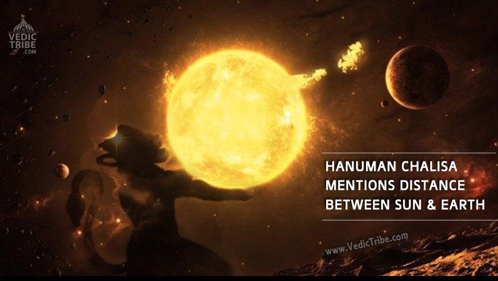Hanuman Chalisa mentions distance between moon and earth