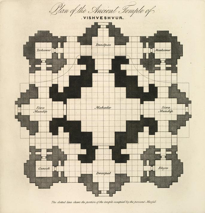 Plan of the Ancient Temple of Vishveshvur, by James Prinsep[7]